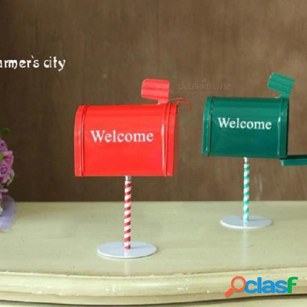 Bricolaje manualidades zakka accesorios de fotos / decoración del hogar buzón con soporte / almacenamiento para buzón / saludo / postal postal