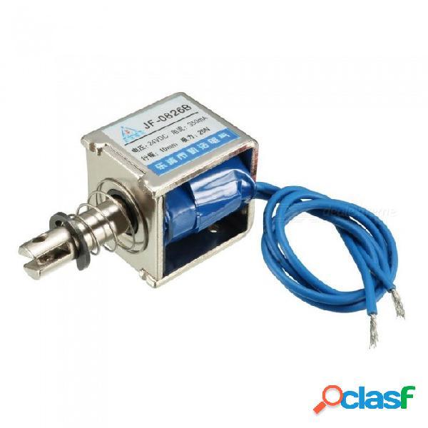 Btoomet push pull tipo electroimán electroimán de marco abierto, jf-0826b 20n 4.4 lb., 10 mm, dc 24v, 350 ma