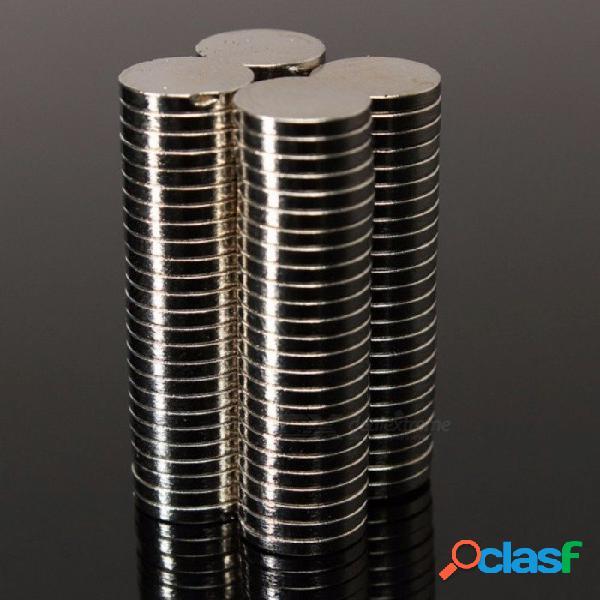 Diámetro redondo fuerte 50pcs superior botones de imanes de neodimio de tierras raras de 8 mm x 1,5 mm para arte artesanal refrigerador plata