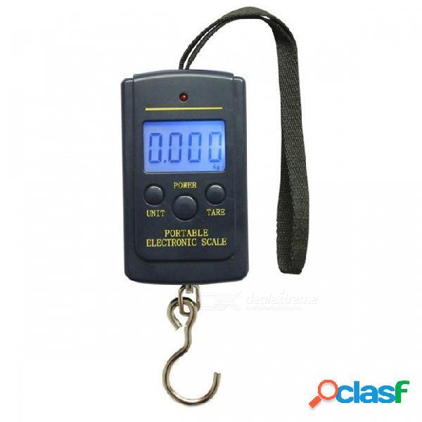 Gancho para colgar de mano digital electrónico portátil de bolsillo kg lb oz balanza w / luz de fondo para equipaje de pesca sin embalaje