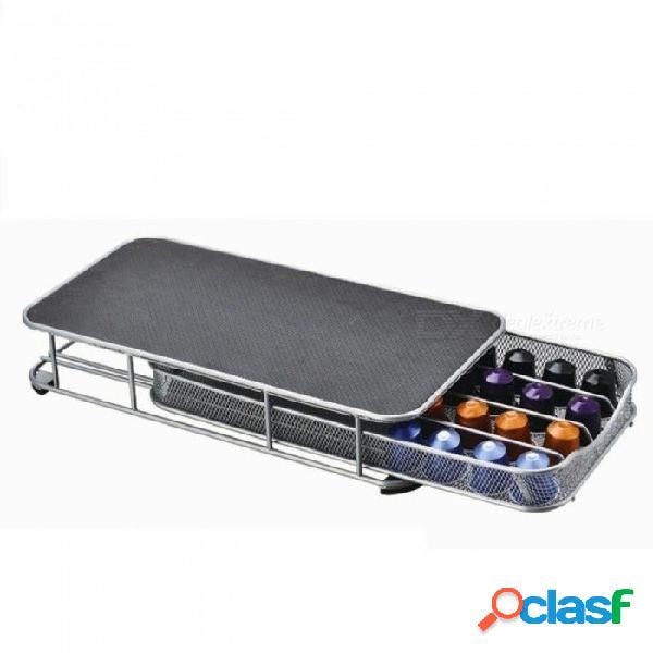 Organizador de cápsulas de café del cajón de almacenamiento del soporte de la cápsula del café para 40pcs cápsulas de nespresso con color negro negro