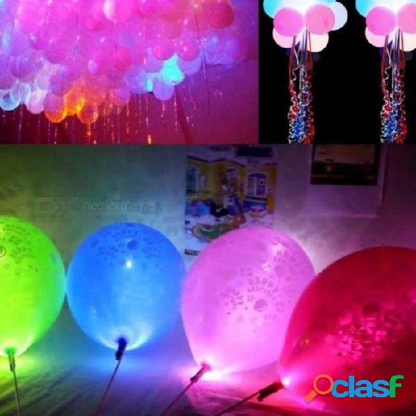 100 unids / lote coloridas luces led luces de globos para linterna de papel decoración de la fiesta de navidad de halloween decoraciones de halloween