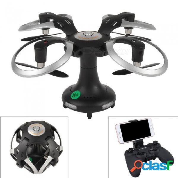415b 2.4ghz forma de bola wi-fi fpv helicóptero plegable rc mini drone con cámara de 2.0mp, juguete rc control remoto quadcopter