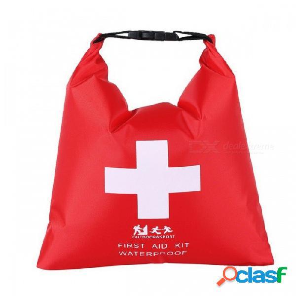 Bolsa de kit de primeros auxilios enrollable impermeable de 1.2l para el caso de kit de emergencia de la hebilla portátil para acampar al aire libre para el trazado de río rojo / l