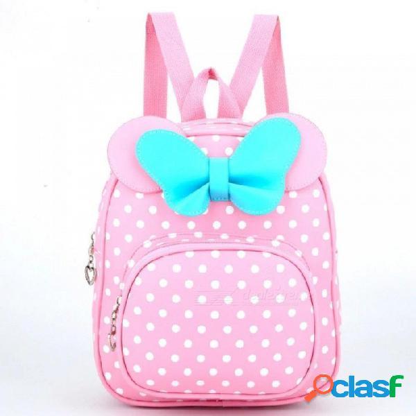 Bolsas de niños para niñas jardín de infantes niños bolsas escolares de dibujos animados pajarita bebé niña mochila escolar niños lindos mochila negro