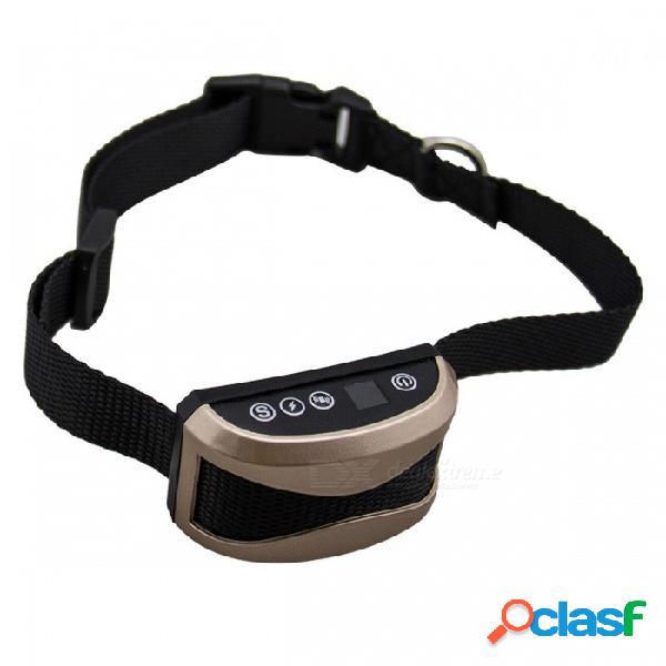 Collar antiladrido recargable p-top con adaptador de carga - choque inofensivo a prueba de lluvia o sin vibración contra la corteza
