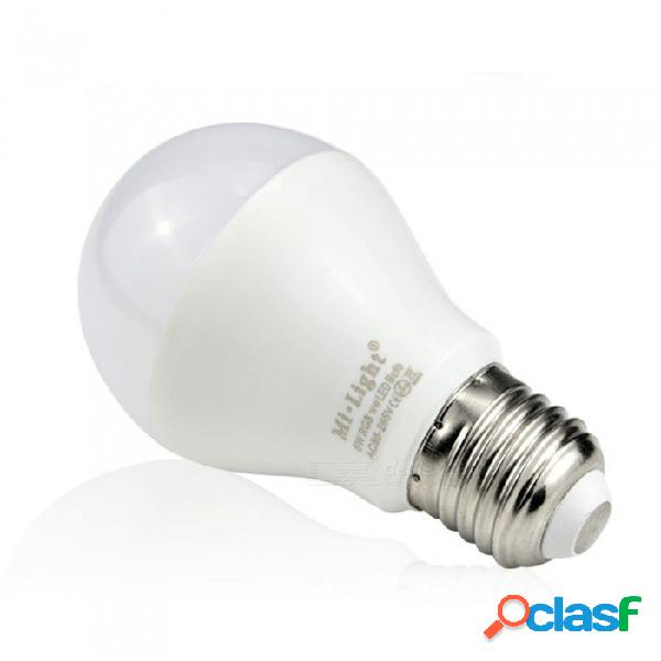 E27 6w 2.4g ac85-265v wi-fi dual blanco / rgbw led lámpara brillo inalámbrico ajuste de color cambiante bombilla led regulable