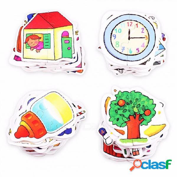 Juegos de rompecabezas juegos de aprendizaje temprano primera rompecabezas para niños juguetes educativos regalo del muchacho multicolor