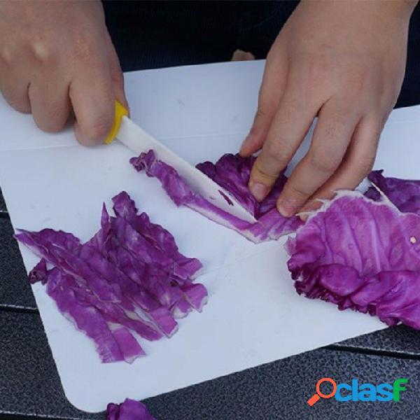 Alocs cocina tabla de cortar plegable tabla de cortar antideslizante plegable portátil acampar al aire libre tablas de cocina estera herramienta blanca