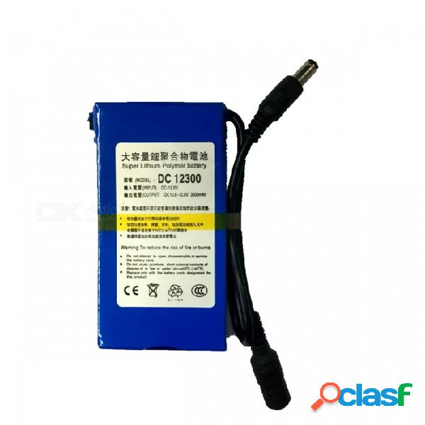 """Batería de litio recargable """"3000mah"""" 12300 12.6v con interruptor & luz led & adaptador de corriente de enchufe de la ue"""