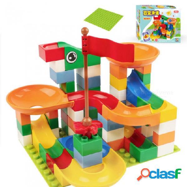 El juguete divertido del rompecabezas de los bloques del resbalador de 74 pedazos para los niños embroma a las muchachas del muchacho