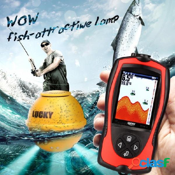 Lucky ff1108-1cwla sensor de sonda remoto inalámbrico recargable 45 m de profundidad de agua lcd de alta definición buscador de peces