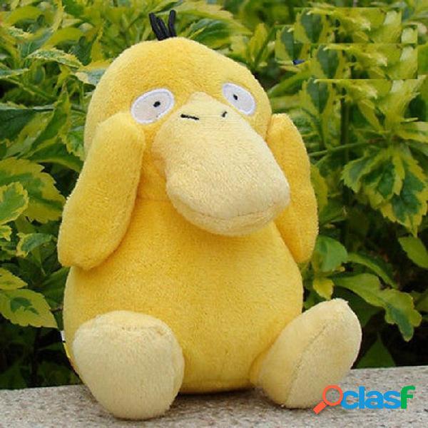 Pato de bolsillo suave muñeca de felpa de peluche de dibujos animados anime 14 cm regalo de cumpleaños de los niños brinquedos muñecos de peluche pato
