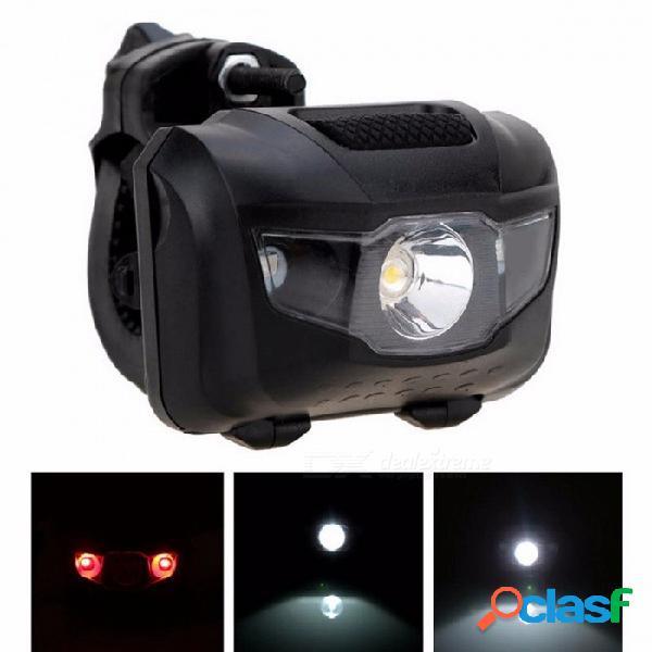 Zk50 bicicleta portátil mtb luz delantera trasera led luz, lámpara de advertencia de la luz trasera de la cola de la cabeza del abs luz negra