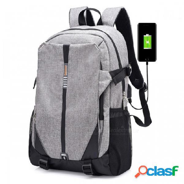 Ctsmart 3012 al aire libre de viaje al aire libre interfaz usb bolso de hombro de ocio al aire libre - gris