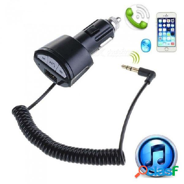 Adaptador de audio estéreo sin manos del receptor de la música del coche a2dp bluetooth 3.0 bluetooth 3.5mm aux auto con el cargador del usb