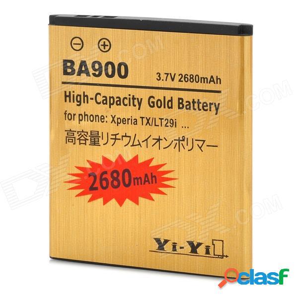 """Batería de iones de litio recargable de """"2680mah"""" para xperia tx / lt29i / xperia j / st26i / xperia l / s36h / ba900"""