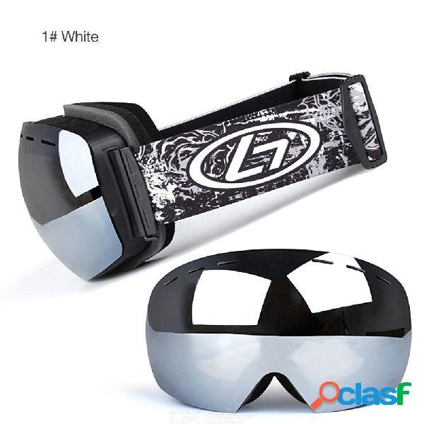 Gafas De Esquí Para Hombre Protección Total Antivaho Gafas Protectoras Para Snowboard W / 1PC Bolsa De Almacenamiento