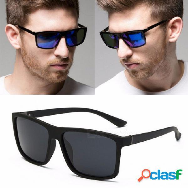 Gafas de sol cuadradas polarizadas para hombre de rbuddy, gafas de sol elegantes de protección uv400 de la moda gafas oculos para conductor negro