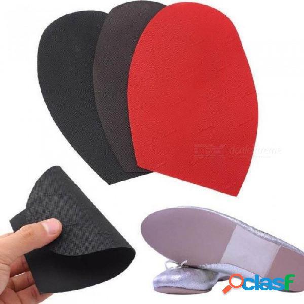 Suela de zapato de goma de reparación de 1 par, medias suelas protectoras antideslizantes, almohadillas de antepié de suela exterior