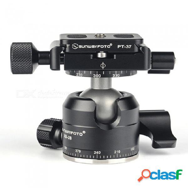 Sunwayfoto xb-28ii mini cabezales de doble panorámica con bajo centro de gravedad y alta fuerza de bloqueo, volumen y peso