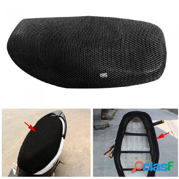 Cubierta de asiento protector solar de la motocicleta fresca, protector solar a prueba de calor aislamiento del calor cojín del asiento cubierta negro
