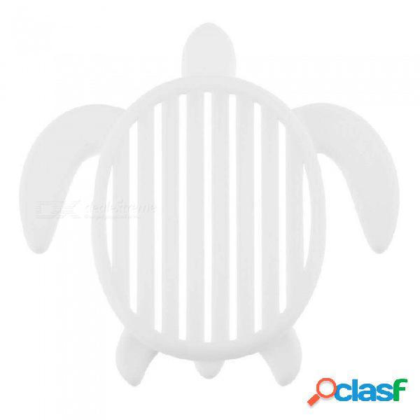 Forma de tortuga, bandeja de jabón, bandeja, escobilla de ducha para inodoro, escurridor, organizador de baño, herramienta de almacenamiento