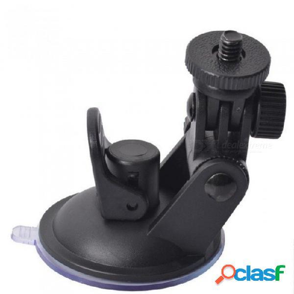 Mini lechón grabadora de conducción de coche montaje dvr soporte conector de rosca rack dv gps soporte de la cámara abs carga máxima 3 kg negro
