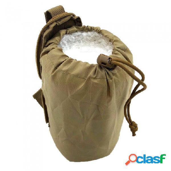 Ocio al aire libre multi-funcional deportes bolsillos pequeños táctico plegable bolsas de reciclaje molle bolsa de camuflaje - de color caqui