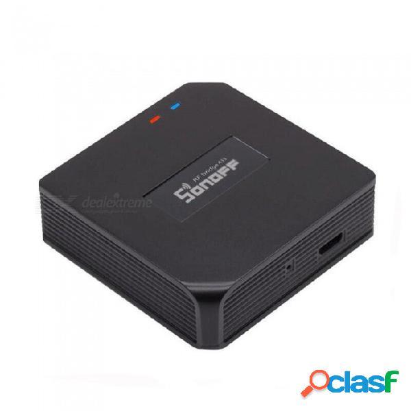 Sonoff rf bridge wi-fi 433 mhz interruptor de automatización inteligente para el hogar, domótica inteligente wi-fi controlador remoto de rf