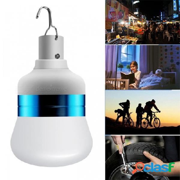 Bombilla de luz led de emergencia recargable portátil usb con baterías de litio incorporadas 5pcs para acampar al aire libre senderismo blanco / no / azul