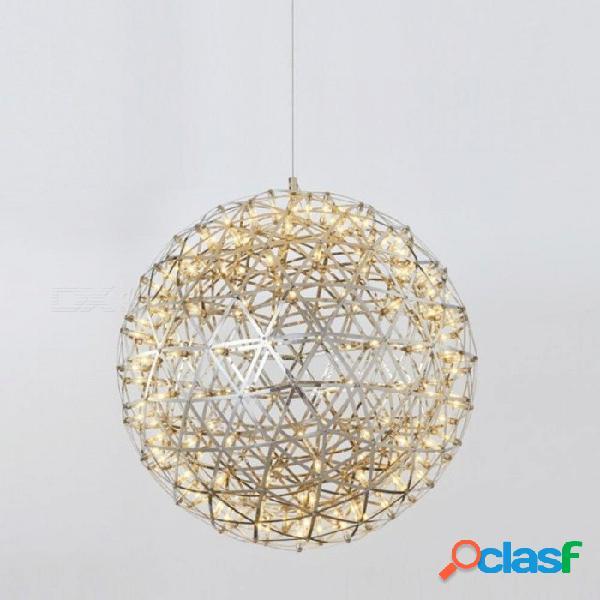 Breve loft moderno bola de bola led lámpara de techo lámpara de fuegos artificiales lámpara de acero inoxidable lámparas colgantes decoración para el hogar iluminación blanco frío / cuerpo de