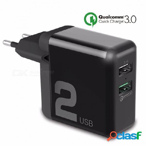 Rock universal dual usb 30 w carga rápida smart qc 3.0 fcp cargador de teléfono para xiaomi iphone samsung huawei eu plug