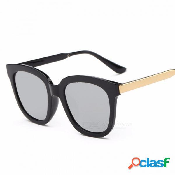 Gafas de sol de moda diseñador clásico para mujer gafas de sol reflectantes de colores retro gafas de montura grande