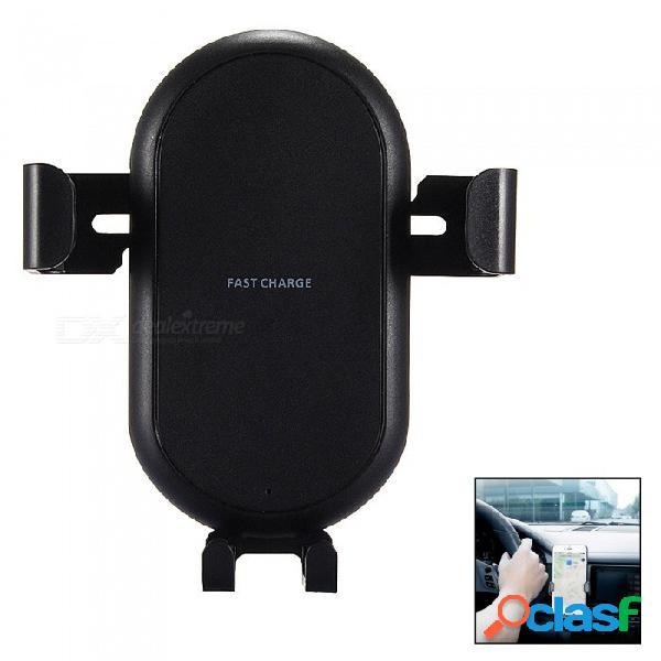 Mini soporte multifuncional del soporte de la salida de aire del coche de la gravedad de la sonrisa con el adaptador inalámbrico rápido del cargador para iphone x / 8/8 más