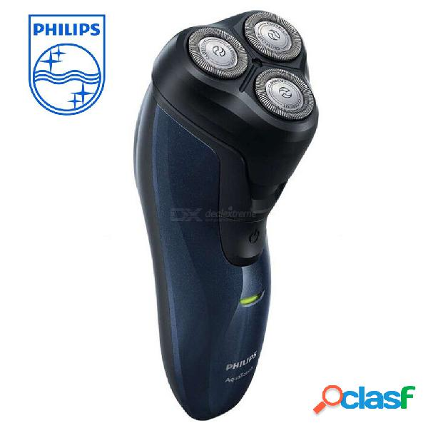 Philips at620 afeitadora eléctrica recargable de triple cuchilla seca y afeitada afeitadora de afeitar de doble uso para hombres cuidado facial
