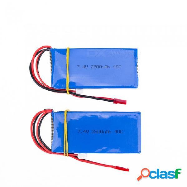 2 pcs 7.4v 2800 mah batería de polímero de litio de alta potencia li-po para syma x8c x8w rc quadcopter