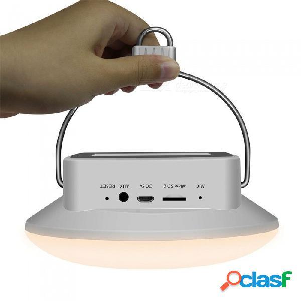 Altavoces inalámbricos bluetooth portátiles de control táctil ambiente colorido luces de campamento altavoz blanco / altavoz