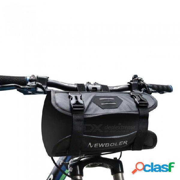 Bolsa de tubo delantero de la bicicleta a prueba de agua paquete de la cesta del manillar de la bicicleta ciclismo marco de la bandeja delantera accesorios de la bicicleta paquete y bolsa