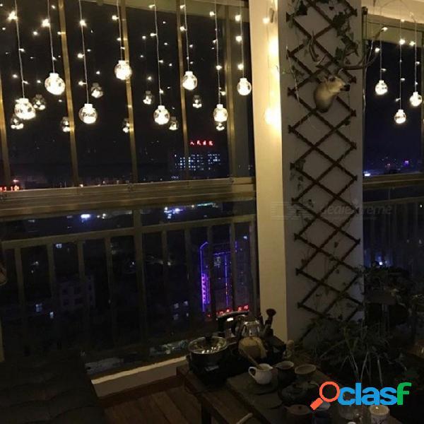 Luz mágica de la secuencia de hadas de la bola del deseo del cristal de los 2.5m, luz de la cortina del led para la decoración al aire libre interior del festival del jardín del partido de na