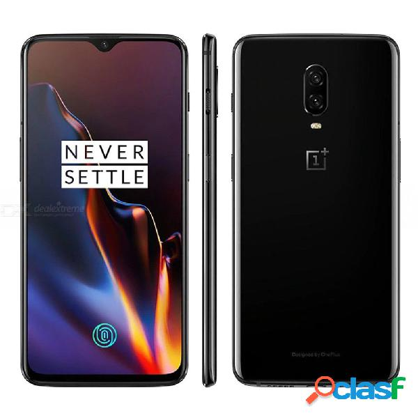 Oneplus 6t a6013 6.4 '' 6gb ram 128gb rom tarjetas sim duales teléfono inteligente android con batería de 3710mah - espejo negro