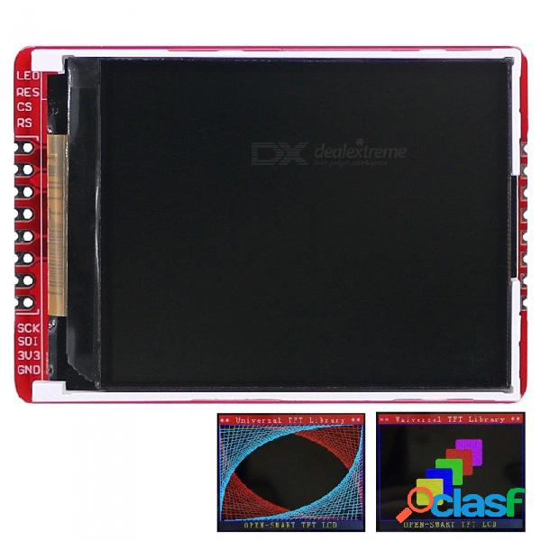 "Open-smart 3.3v 2.2"" 176 * 220 serial spi tft lcd escudo módulo de placa de arranque para arduino uno r3"