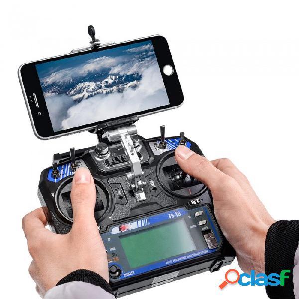 Soporte portátil para teléfono móvil para flysky fs-i6 fs-i6x, fs-i6s o turnigy tgy-i6, transmisor fs-i6x - negro