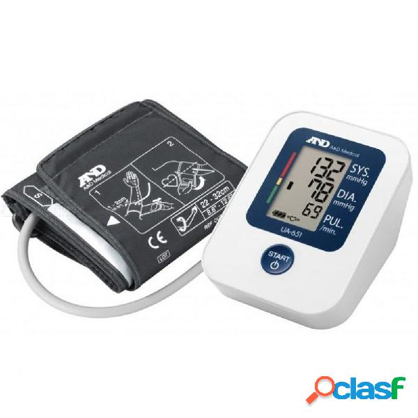 Y ua-651 manguito para la presión arterial en la parte superior del brazo, monitor de presión arterial en el hogar, certificación esh, baterías incluidas