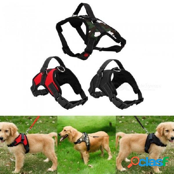 Arnés del perro grande para cachorros ajustable para perros pequeños, medianos, grandes, animales, mascotas, correa de mano, perro, suministros, como imagen