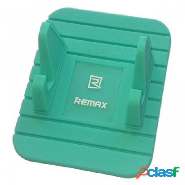 Soporte para teléfono móvil de silicona suave remax, soporte de soporte de soporte antirresbaladizo de gps del tablero de instrumentos del coche