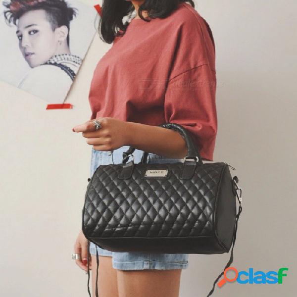 Bolso bandolera con cadena de bandolera femenina bolsas con bolsas grandes con lazo para mujer bolsa de color sólido negro