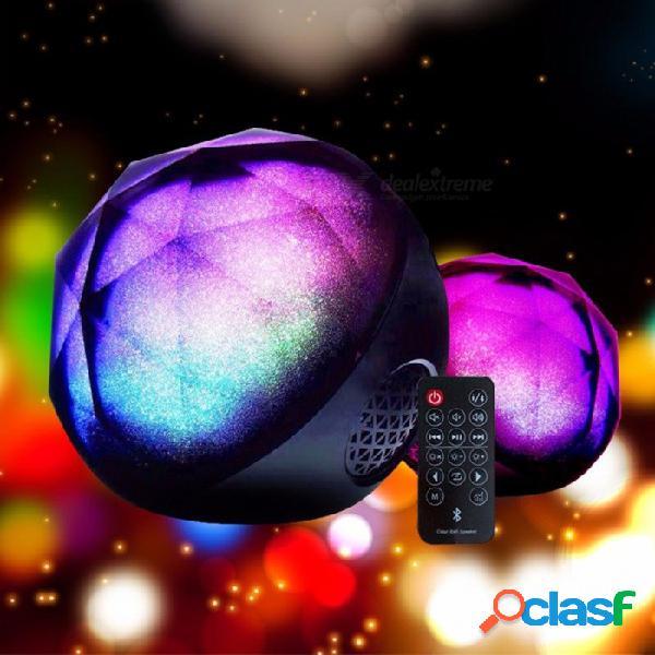 Nuevos altavoces bluetooth mini led coloridos altavoces estéreo inalámbricos con altavoz portátil de control remoto negro / altavoz