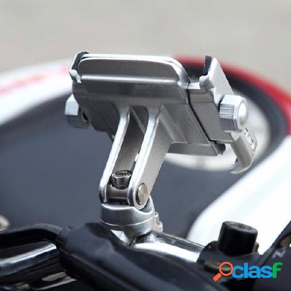 Soporte universal motowolf soporte para teléfono de la motocicleta de aleación de aluminio, soporte del teléfono para el manillar de la bicicleta gps - plata plateada