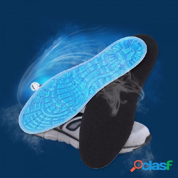 Arco soporte plantilla azul gránulo anti resbaladizo amortiguador plantillas deportivas para hombres mujeres calzado deportivo gel zapatas almohadillas azul cielo